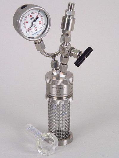 reactor a presion metal tinyclave marca buchiglasuster sica medicion