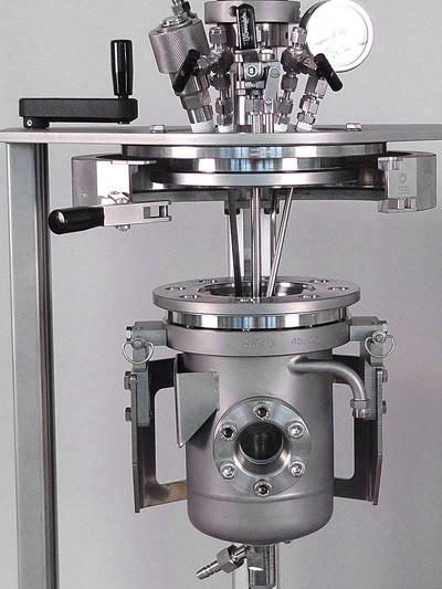 sistema reactor a presion versoclave pruebas de catalizador sica medicion