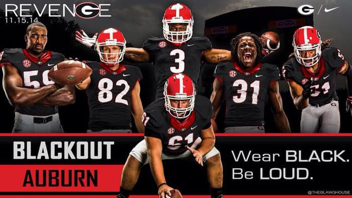 2014 UGA Football Black Jerseys