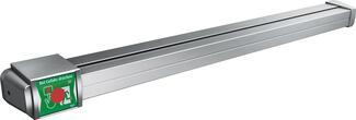 Gesteuert wird das Fluchttürsystem über das kompakte, in die Panik-Druckstange integrierte Display-Terminal.