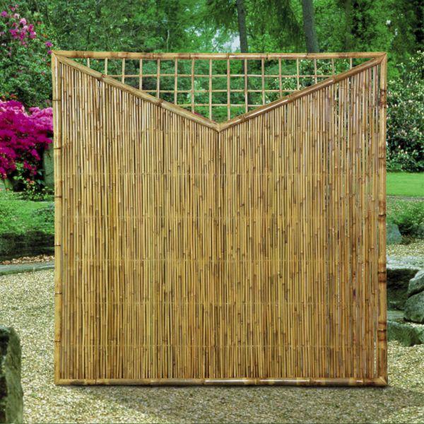 sichtschutzwand bambus zen dreieck