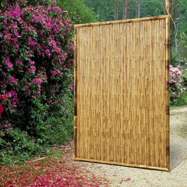 sichtschutzwand bambus zen geschlossen