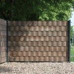 Pvc Sichtschutzstreifen Woodline Hart Kunststoff Braun Sichtschutz Welt De