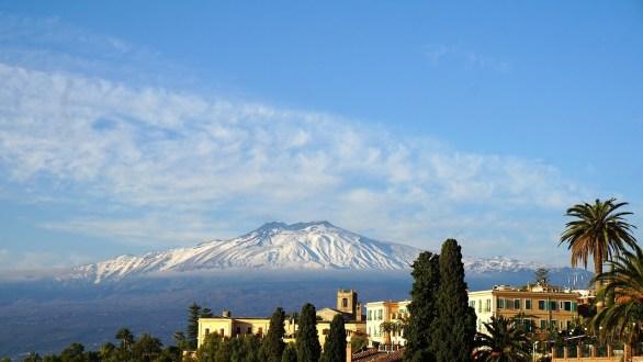 Neige sur Etna Sicile