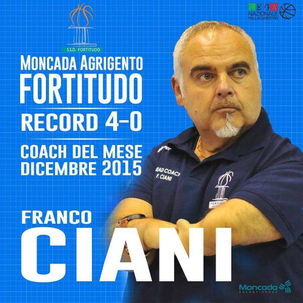 Ciani coach del mese di dicembre
