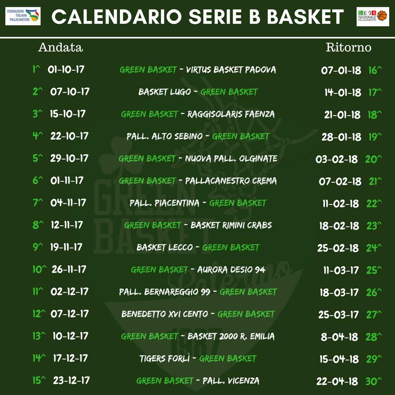 Calendario Serie B Femminile.Serie B Girone B Il Calendario Del Green Basket Palermo