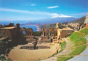 Taormina : vista sull'Etna