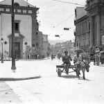 Foto antiche di Palermo Via Dei Benedettini e Via Antonino