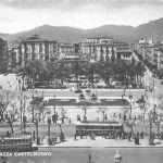 Foto antiche di Palermo - piazza Castelnuovo (anni 50)