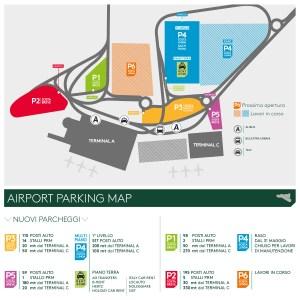 Mappa Parcheggi aeroporto
