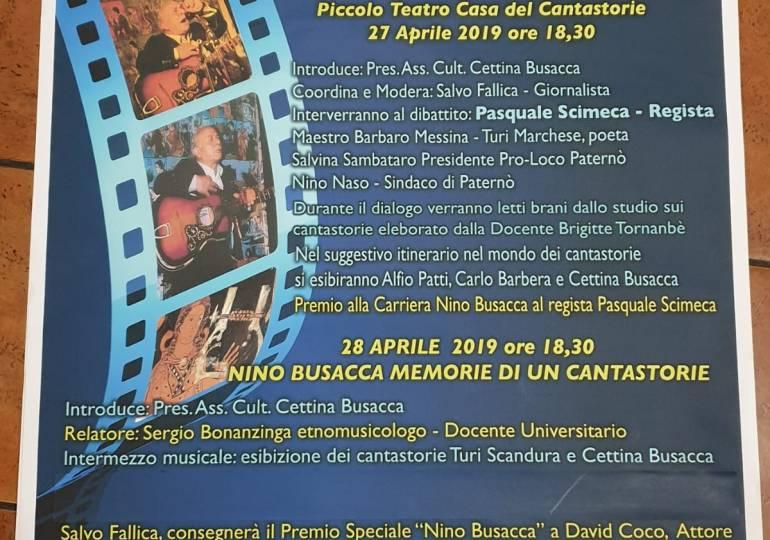 Paternò, premi speciali al regista Pasquale Scimeca ed all'attore David Coco