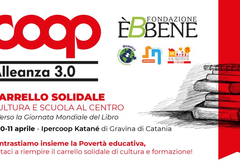 Contrastare la Povertà educativa, all'Ipercoop Katanè Gravina di Catania tre giorni di raccolta di materiale scolastico