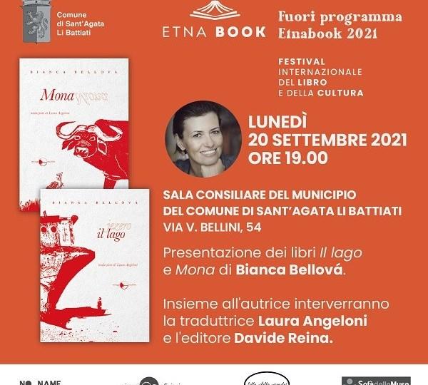 Etnabook 2021: evento speciale con la scrittrice Bianca Bellová