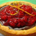Chocolate Tart with Strawberry Compote