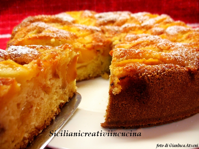 Soft peach and Almond Cake