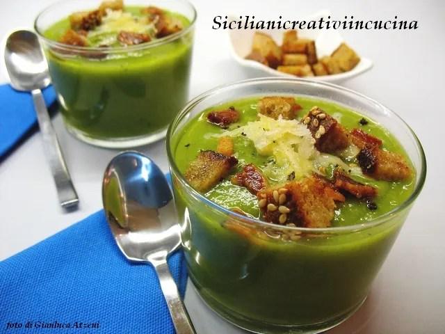 Sizilianische grüne Zucchini-Creme, leicht und würzig