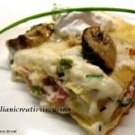 Lasagne ai porcini, bacon e burrata