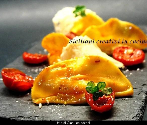 Ravioli di Parmigiano Reggiano con pomodori confit