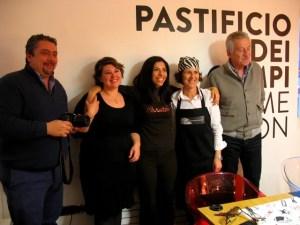 Con Antonio Lucisano, direttore del Consorzio, e Giuseppe Di Martino, del Pastificio dei Campi