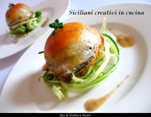 Timball0 Sardellen, Tomaten und provolone