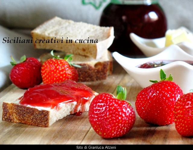 Erdbeer-Marmelade und Ingwer