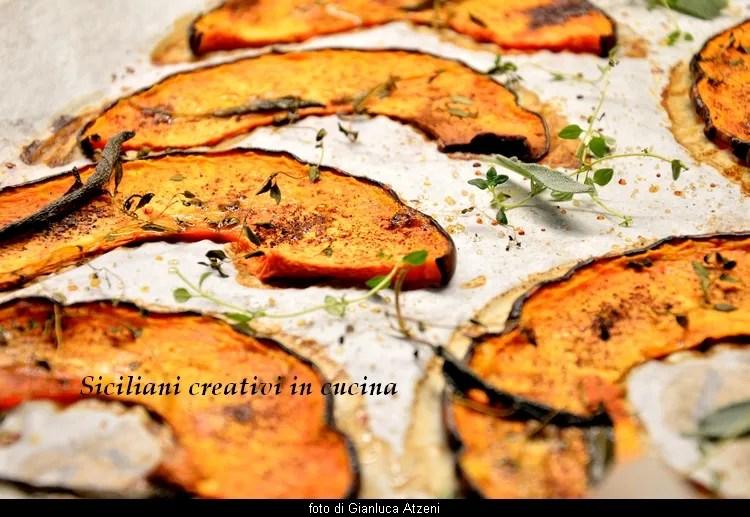 Zucca al forno (confit con erbe e spezie)