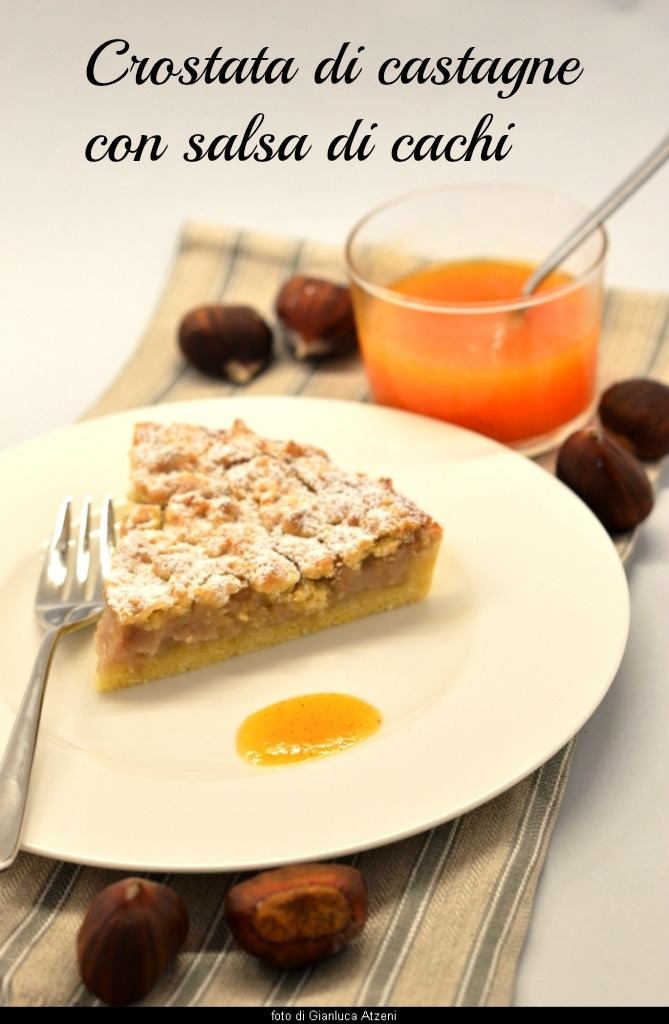 Tart with cream of chestnuts