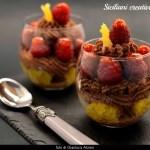 Mousse au chocolat, Framboises et oranges caramélisées