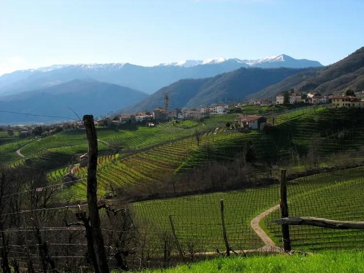 Las colinas de Docg Prosecco, un panorama con vista de ' la Unesco
