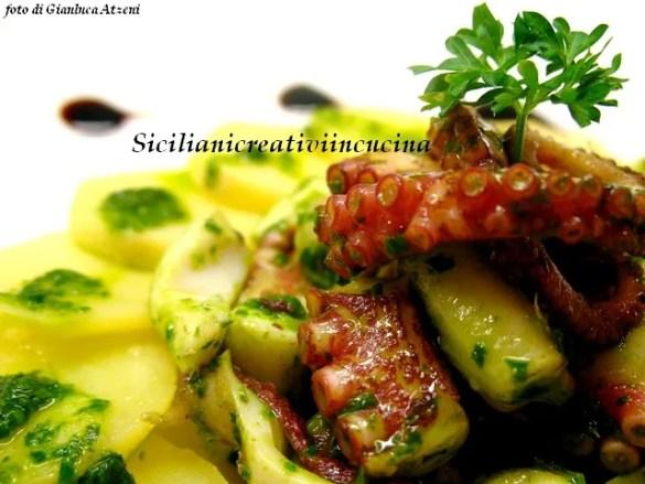 Un classico del sud Italia: insalata di patate e polpo verace
