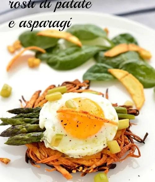 Uova fritte, rosti di patate e asparagi: brunch di primavera