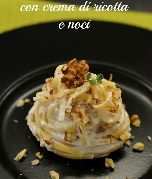Pasta con crema di ricotta e noci: pronta in 5 minuti e buonissima.