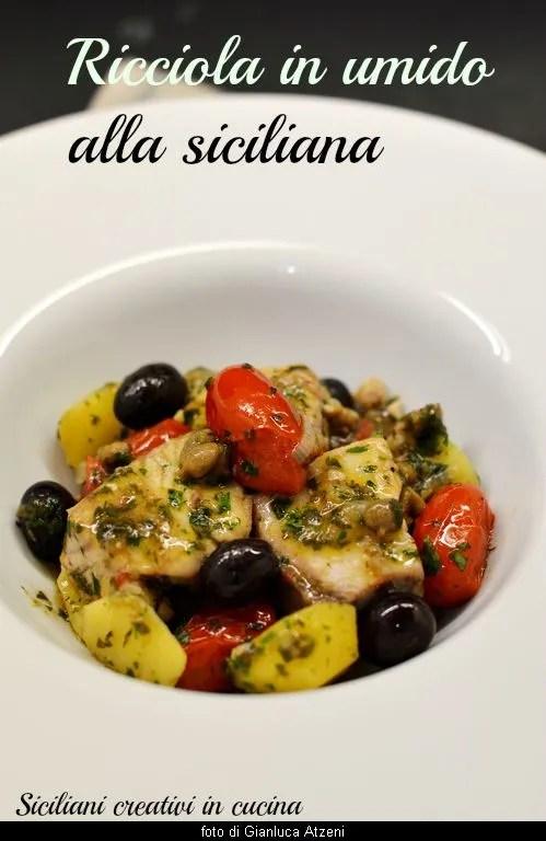 Ricciola In Umido Alla Siciliana Siciliani Creativi In Cucina