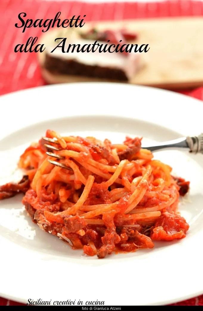 Spaghetti alla Amatriciana, recette originale