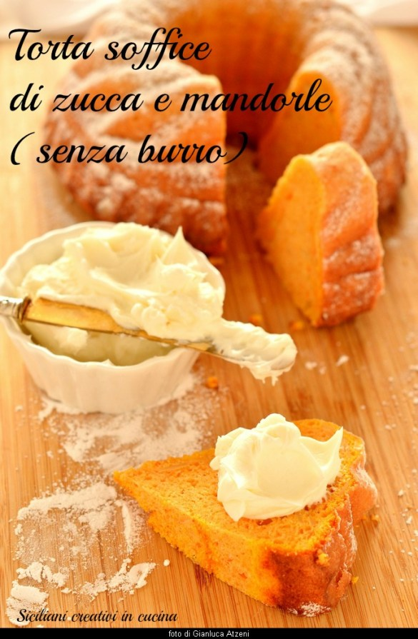 Soft cake with pumpkin and almonds, no butter