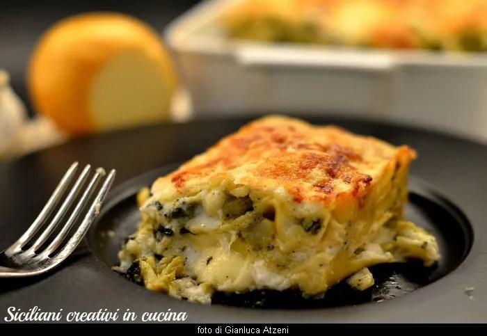 Lasagne con broccoli e scamorza affumicata