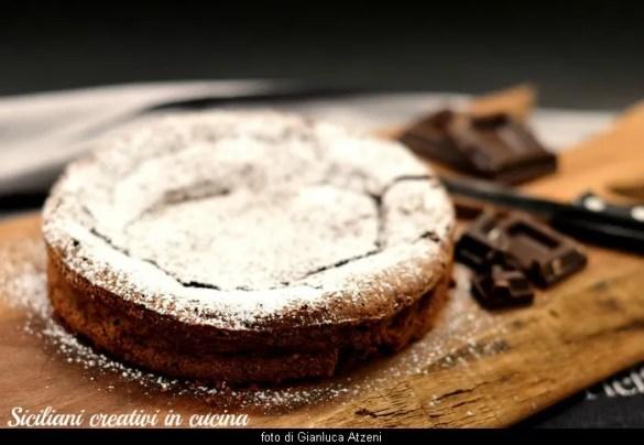 Torta al cioccolato senza glutine (fondant)