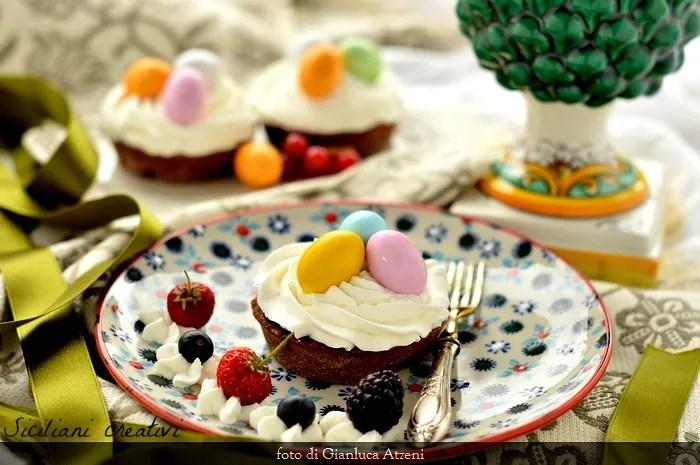 Crostatine al cioccolato e panna