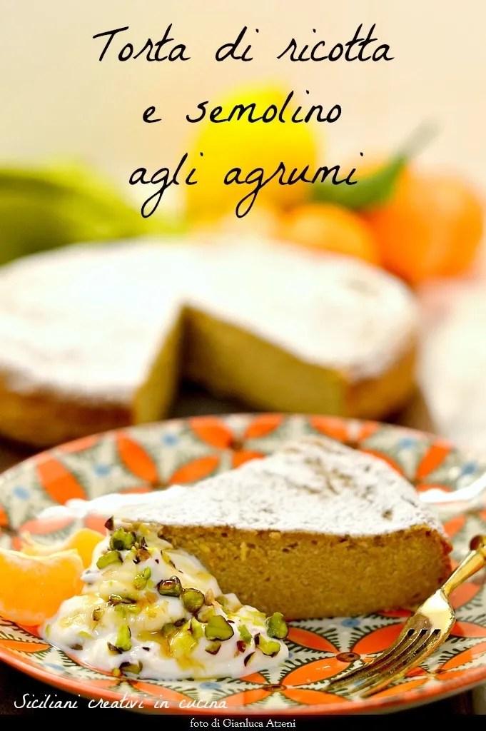 Ricotta cake, semolina and citrus