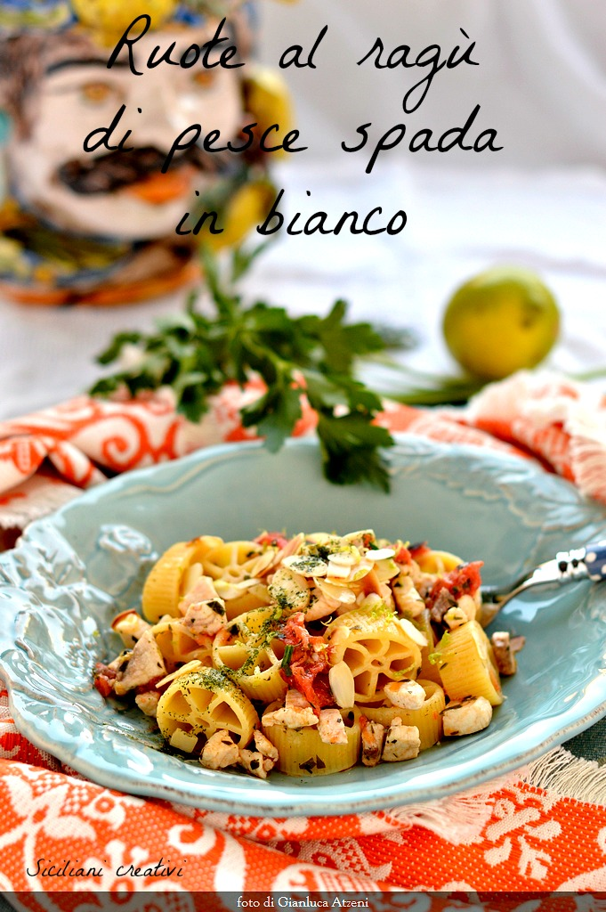 Pasta with swordfish ragout in white