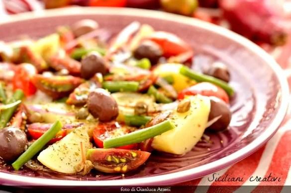 Insalata pantesca: ricetta originale siciliana, con l'aggiunta dei fagiolini