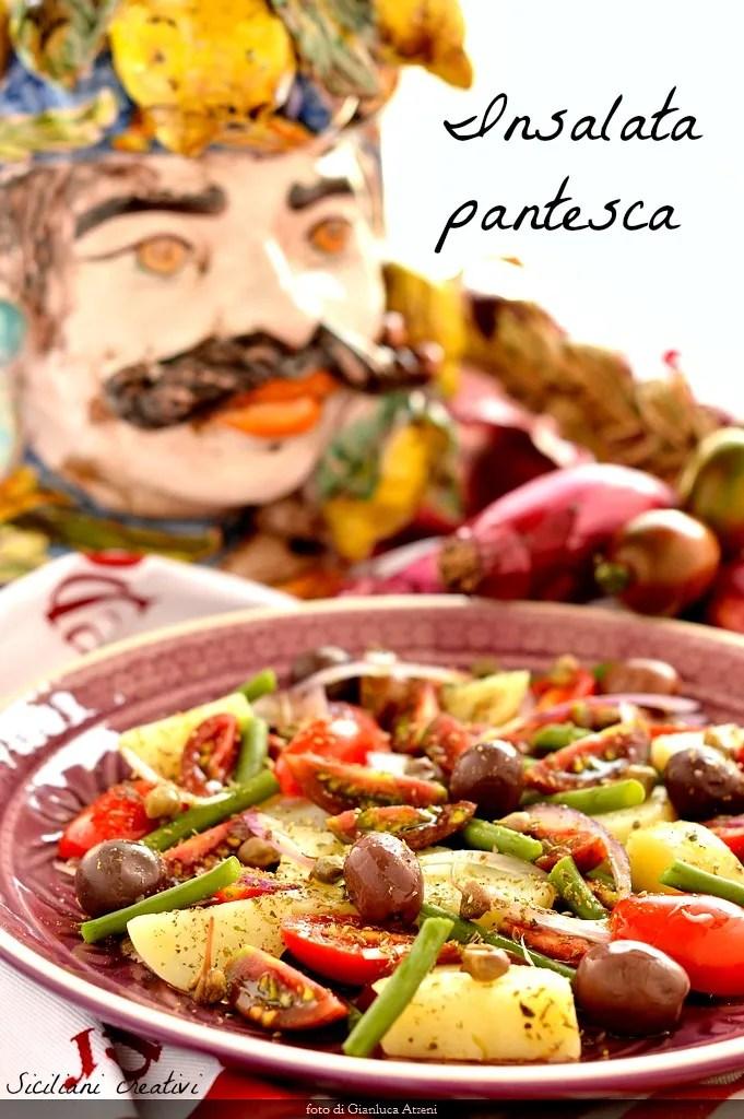 Insalata pantesca: receta original de Sicilia, con l'aggiunta dei fagiolini