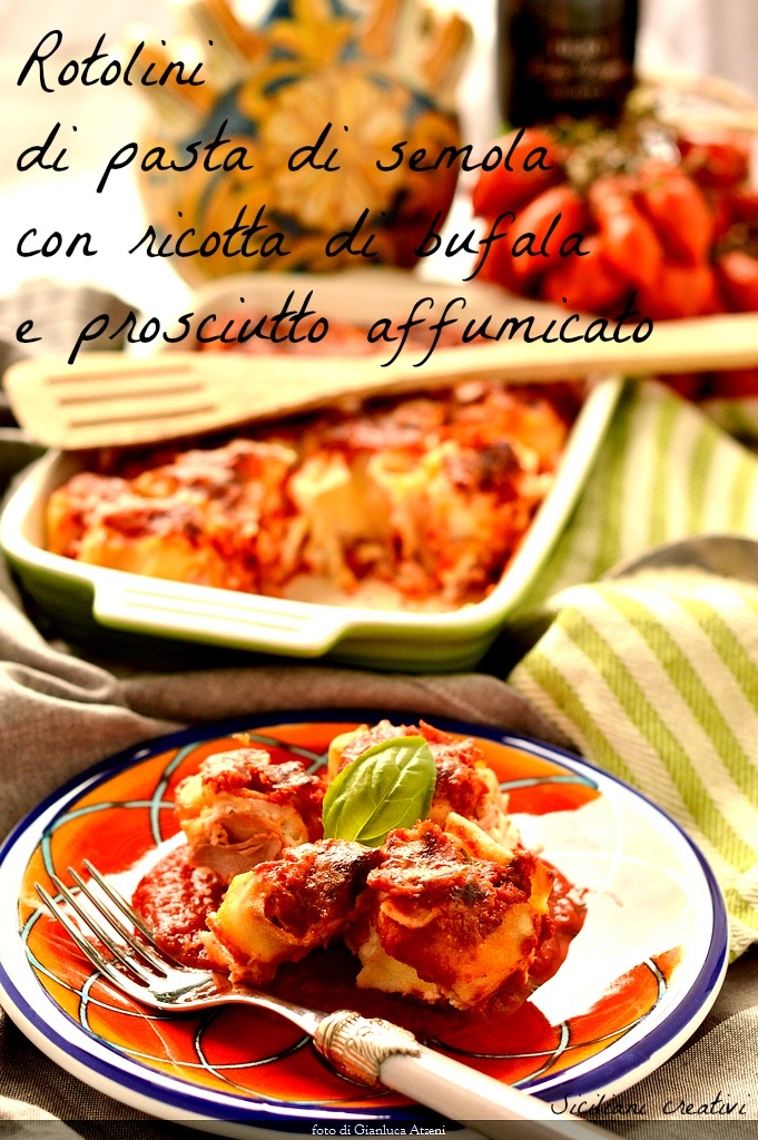 Rolls of pasta with Buffalo ricotta