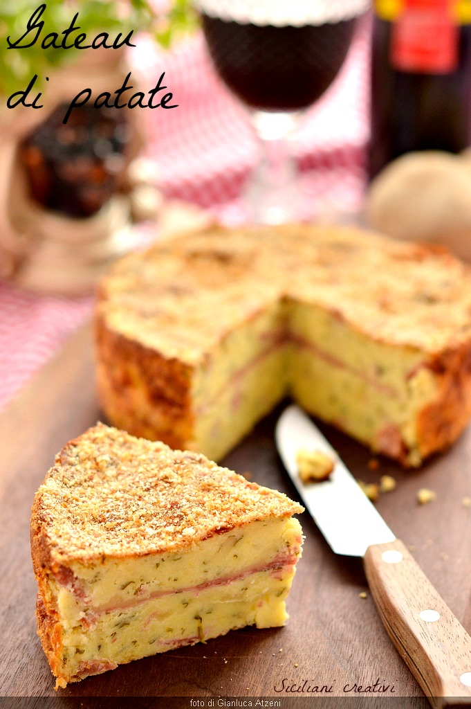 Tarta di patate, receta tradicional siciliana con salami y queso