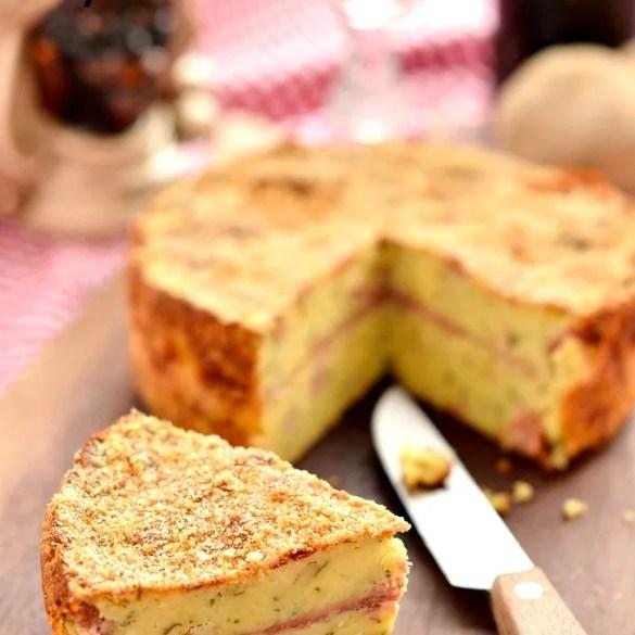 Gateau di patate, ricetta tradizionale siciliana con salame e formaggio