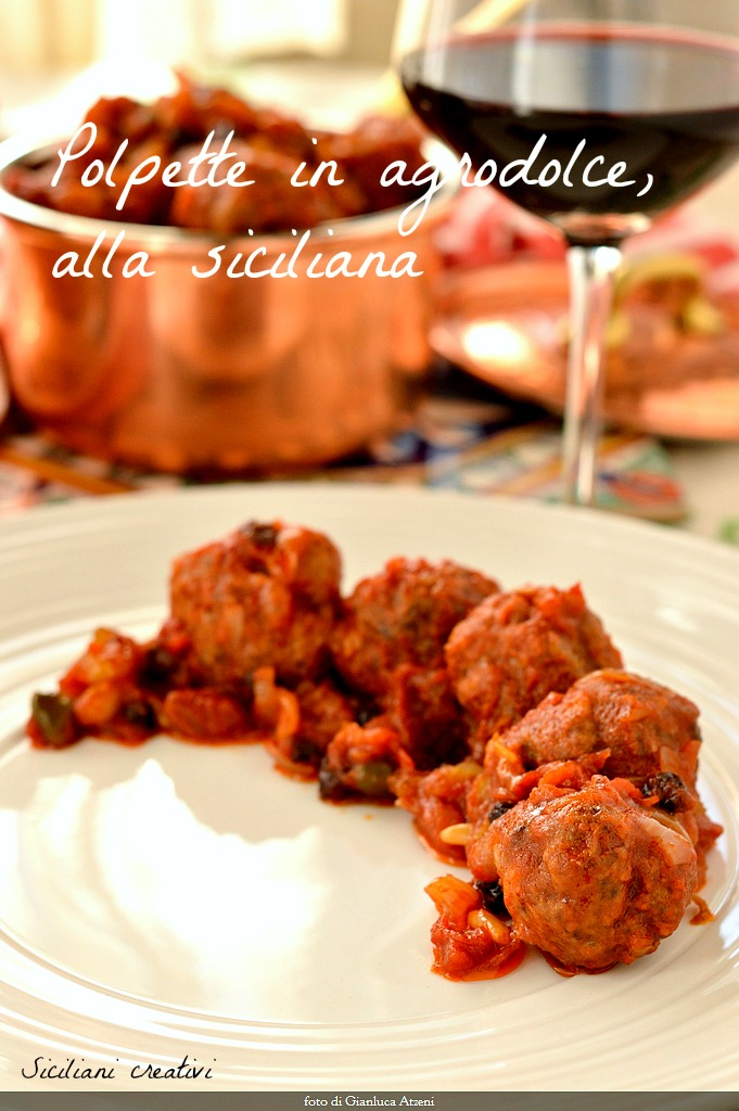 Sicilian sweet and sour meatballs