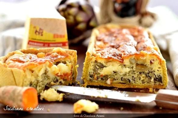 Torta salata ai carciofi e fontina