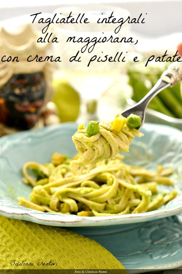 integrals Noodles with marjoram and cream of peas