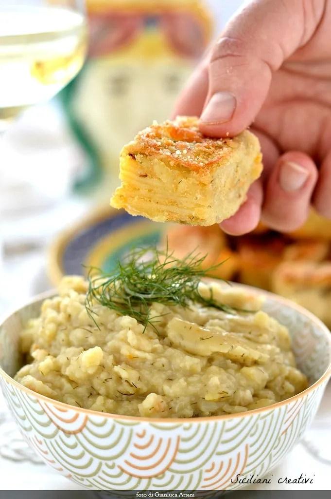 Macco sizilianische fave (Suppe getrockneten Bohnen)