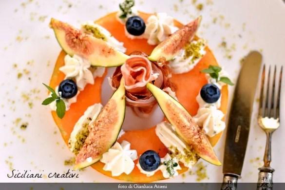 Prosciutto, melone e fichi